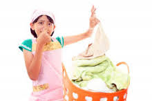 remove mildew smell ftom clothes