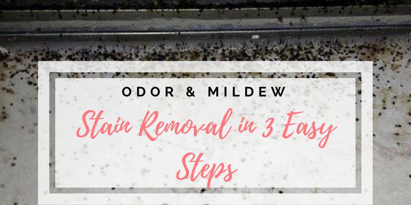 Odor & Mildew Stain Removal in 3 Easy Steps